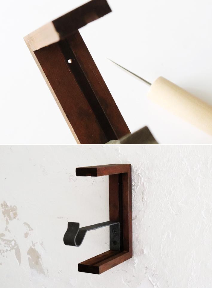 在り合わせで簡単DIY☆「アートな壁掛けフック」_d0351435_10335677.jpg