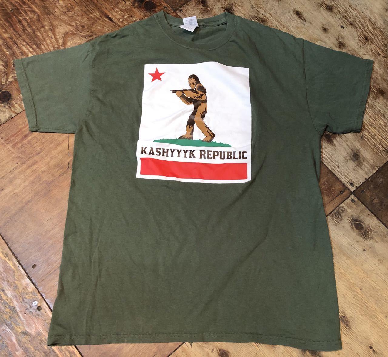 6/29(月)入荷! Carfornia Repubric パロディー STAR WARS キャッシーク共和国 KASHYYYK REPUBLIC Tシャツ!_c0144020_13055926.jpg