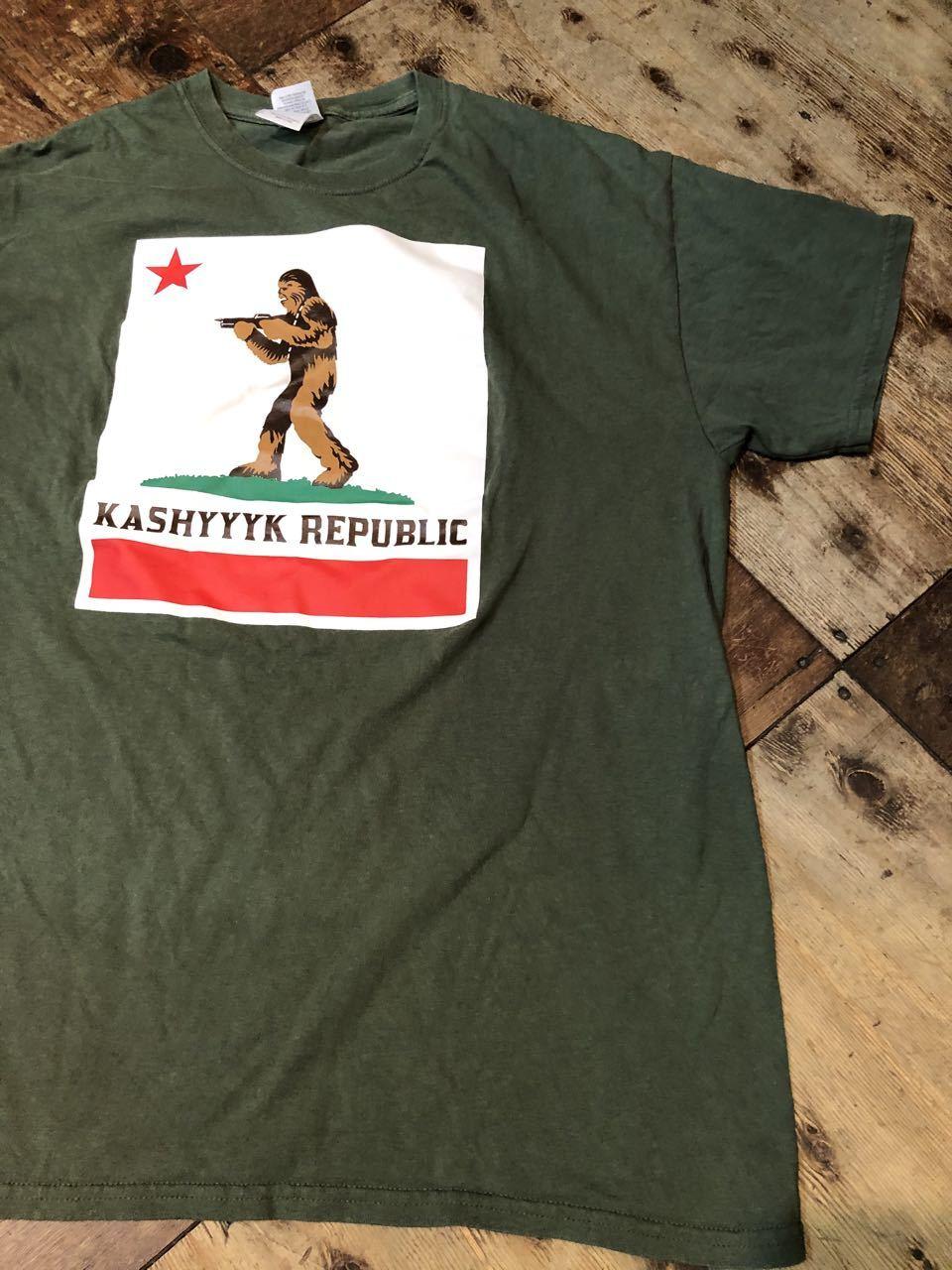 6/29(月)入荷! Carfornia Repubric パロディー STAR WARS キャッシーク共和国 KASHYYYK REPUBLIC Tシャツ!_c0144020_13060214.jpg