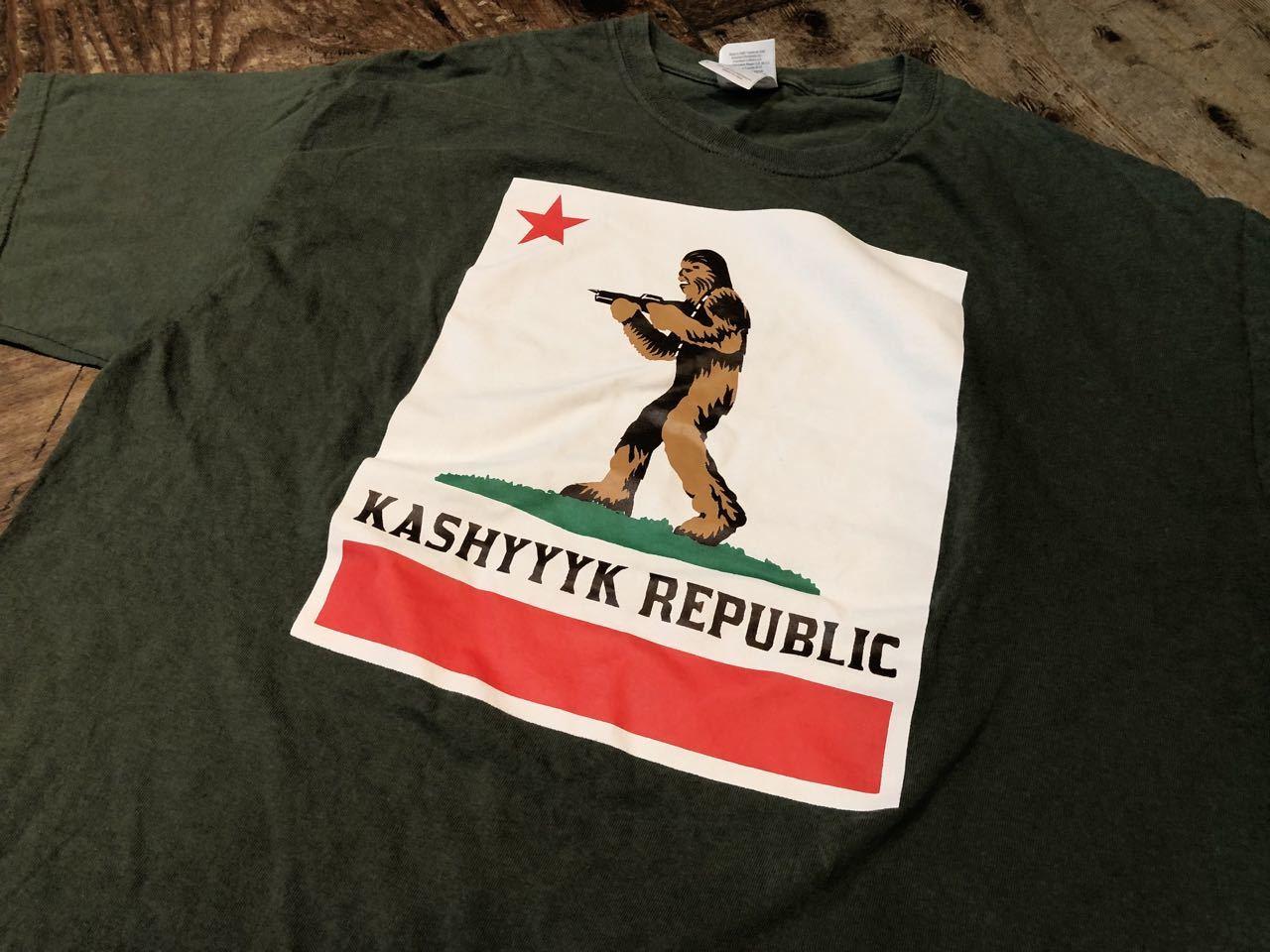 6/29(月)入荷! Carfornia Repubric パロディー STAR WARS キャッシーク共和国 KASHYYYK REPUBLIC Tシャツ!_c0144020_13060404.jpg