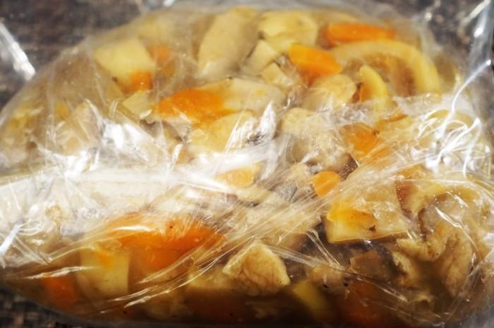 ■【竹の子入り7品目の五目飯】酢飯+甘辛炒め煮具材を後混ぜタイプです。_b0033423_00203116.jpg