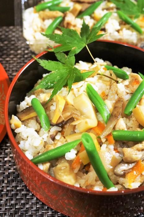 ■【竹の子入り7品目の五目飯】酢飯+甘辛炒め煮具材を後混ぜタイプです。_b0033423_00272119.jpg