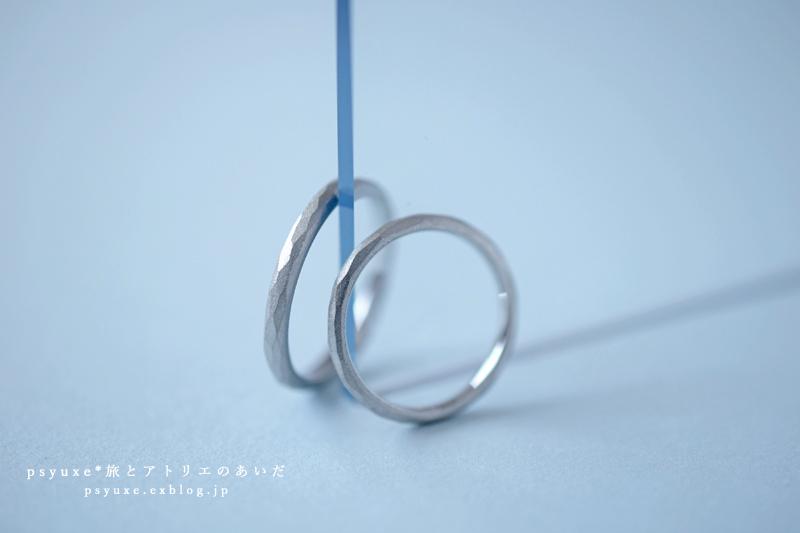 マット仕上げのプラチナホワイトが美しいご結婚指輪です*静岡県 Y 様_e0131432_17134006.jpg