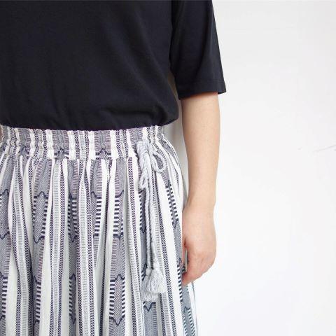 Slow Hands : Dobby stripe gather skirt_a0234452_13373367.jpg