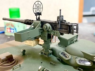 アシェット 74式戦車をつくる 4 (12.7mm重機関銃)_a0352357_22404816.jpg