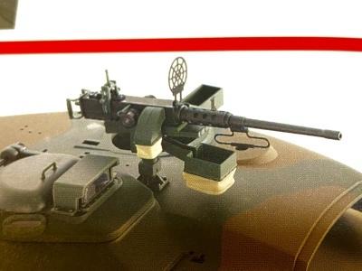 アシェット 74式戦車をつくる 4 (12.7mm重機関銃)_a0352357_22405051.jpg