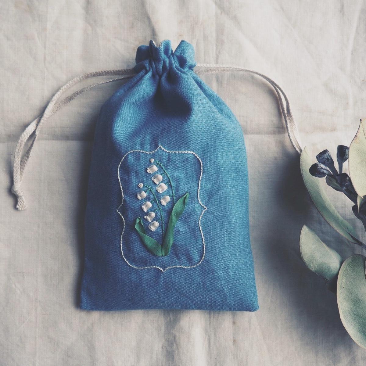 リボン刺繍ワークショップ「スズランの巾着袋」開催のお知らせ_d0023111_13424825.jpeg