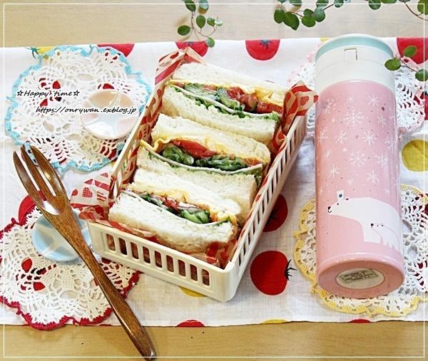 ミックスサンド弁当とお供はルピシアのお茶♪_f0348032_15260981.jpg