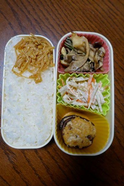 ある日のお弁当(シイタケの肉詰め)_b0287241_06225592.jpg