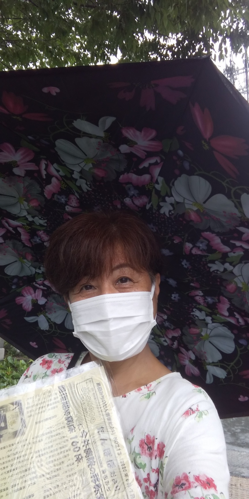 もの凄い雨☔️と風🌀病院前からまちかどカフェ🎤ご近所の皆さんにご協力いただいて🙇😊🙇_f0061067_23212959.jpg