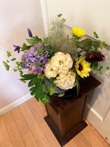 今月のお花のお教室_b0016668_22385306.jpg