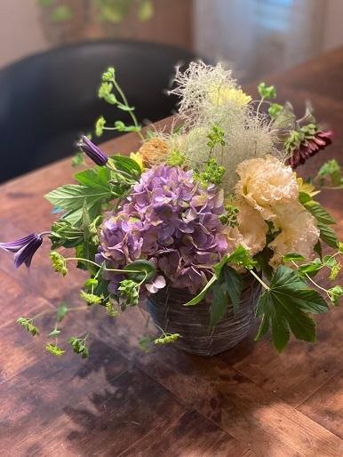 今月のお花のお教室_b0016668_22394566.jpg