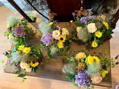 今月のお花のお教室_b0016668_22445925.jpg