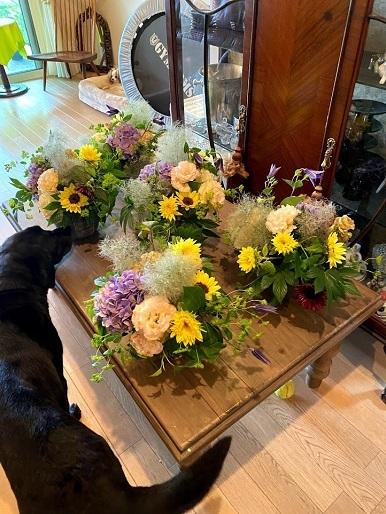 今月のお花のお教室_b0016668_22454809.jpg