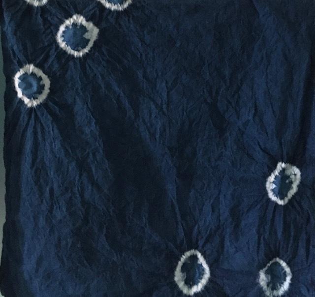 藍染めの忘備録ー絞り染めと板締めでナプキン_e0350971_22482153.jpg