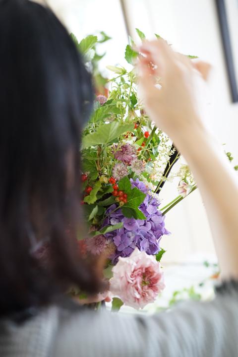 6月のレッスン 縦長の花束_f0127281_20001426.jpg