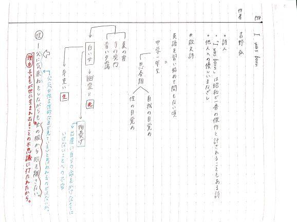 「I was born」生徒ノート_f0052907_23095856.jpg