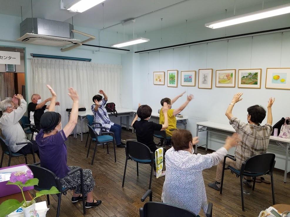 懐メロ体操&水彩画教室_c0113948_15375741.jpg