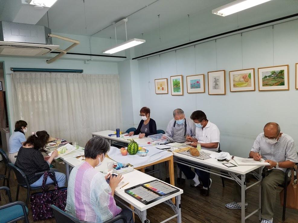 懐メロ体操&水彩画教室_c0113948_15495352.jpg