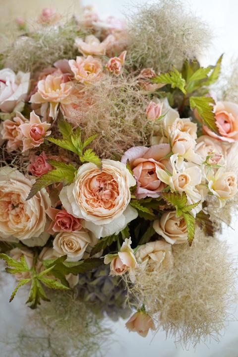 ブラウンヌードの和ばらのgift bouquet_f0127281_18363095.jpg