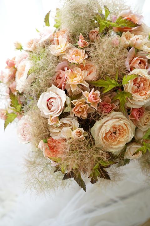 ブラウンヌードの和ばらのgift bouquet_f0127281_18365841.jpg
