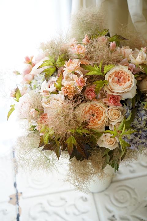 ブラウンヌードの和ばらのgift bouquet_f0127281_18370604.jpg