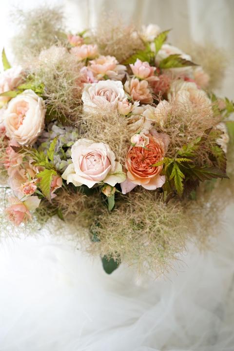 ブラウンヌードの和ばらのgift bouquet_f0127281_18382145.jpg
