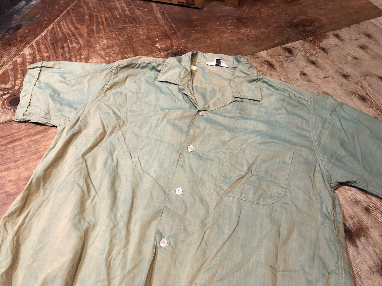 7月2日(木)入荷! 60s オープンカラー ボックスシルエット 玉虫シャツ!_c0144020_13465497.jpg