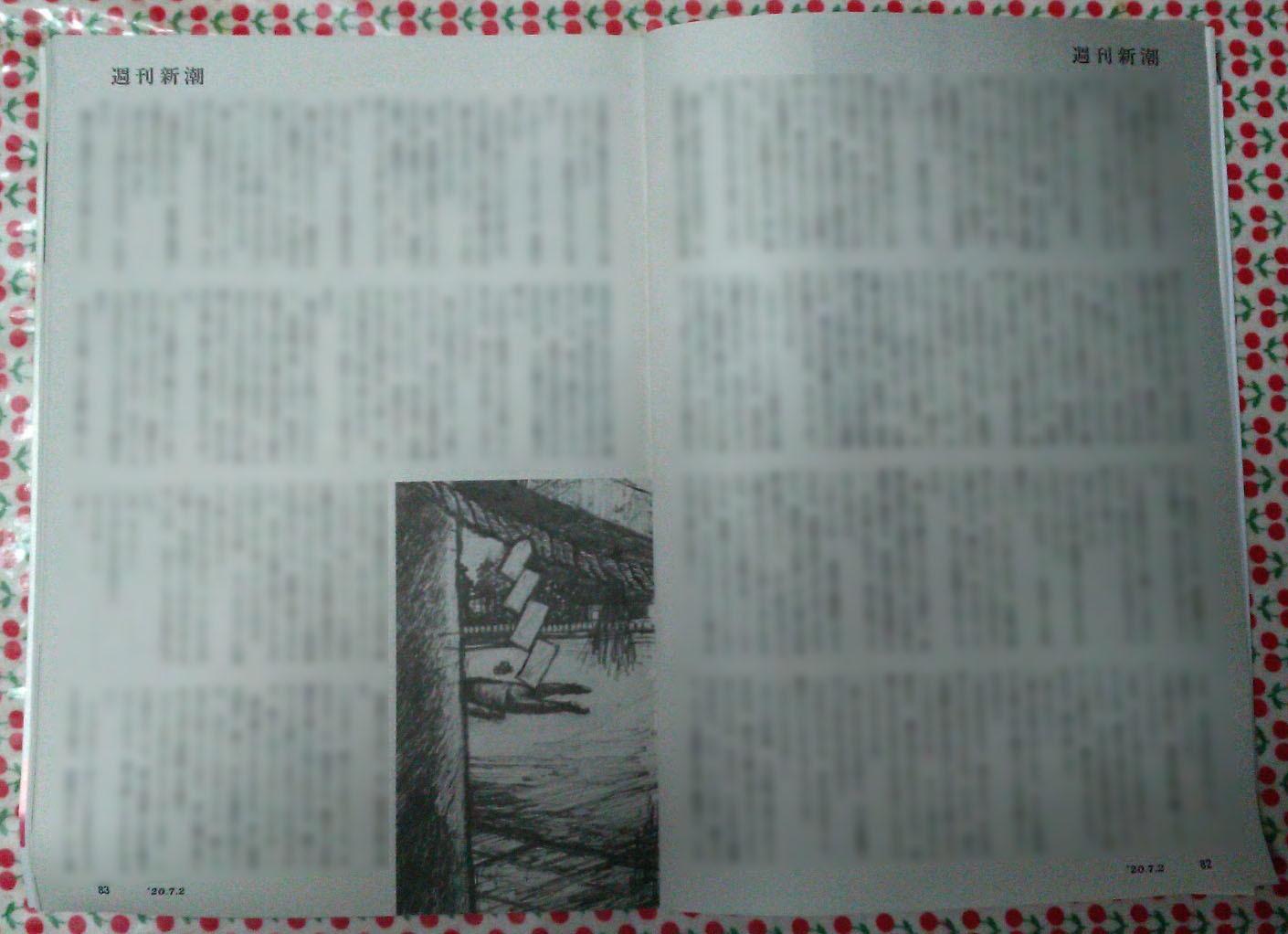 週刊新潮「雷神」挿絵 第25回_b0136144_04103523.jpg