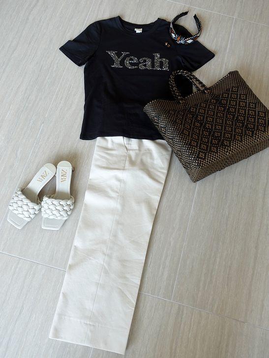 ロゴTシャツとZARAのサンダル_e0368107_19333180.jpg