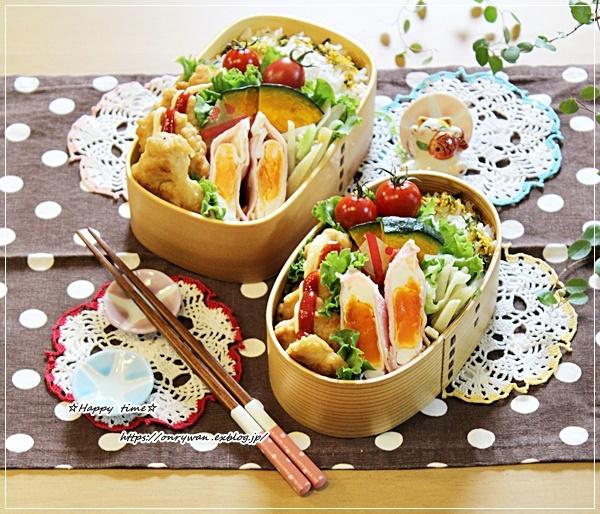 チキンナゲット弁当と庭から♪_f0348032_17270631.jpg
