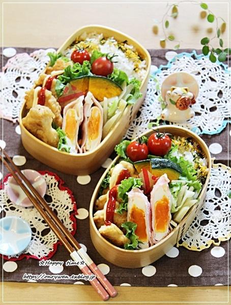 チキンナゲット弁当と庭から♪_f0348032_17271644.jpg