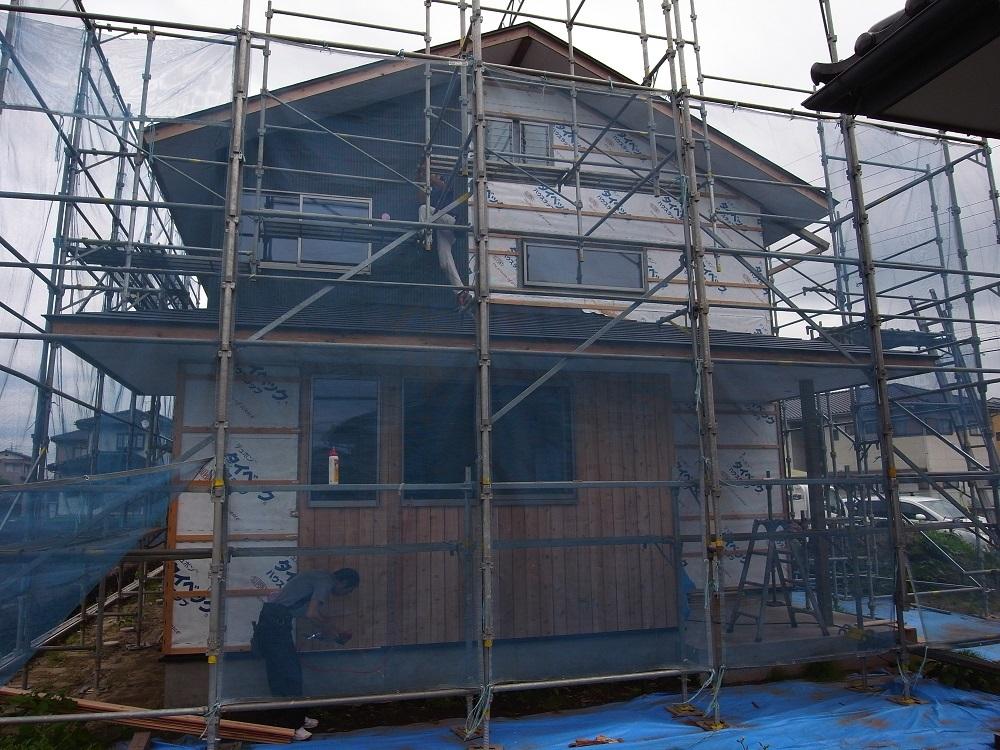 抽ヶ台の家 外壁工事ー2 2020/7/3_a0039934_13214800.jpg