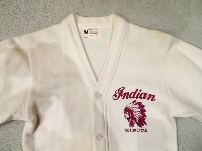 40\'s Champion Indian Motorcycle Sweat Cardigan + 新商品投入中 !!_e0187362_12081743.jpg