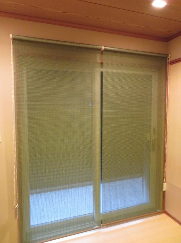 和室のスダレシェードをロールスクリーンに交換 モリス正規販売店のブライト_c0157866_18443949.jpg