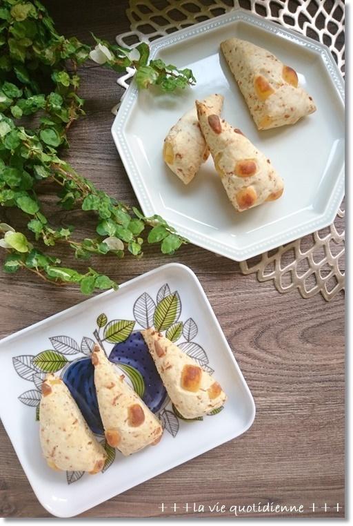 【食事スコーンのレシピ】花エビとチーズのショッパイやつと王子は姫の教育係_a0348473_05380895.jpg