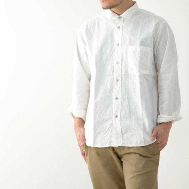RINEN[リネン] 80/2ダウンプルーフレギュラーカラーシャツ[38000] ホワイト・ストライプ・ギンガムチェック・長袖・MEN\'S_f0051306_16181505.jpg