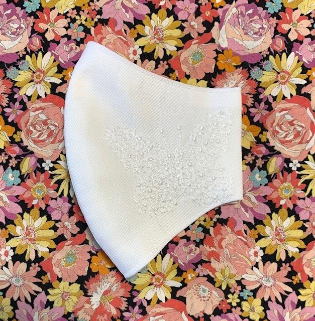 モンシロ蝶のクモの巣刺繍マスク♪_c0316026_19285650.jpg