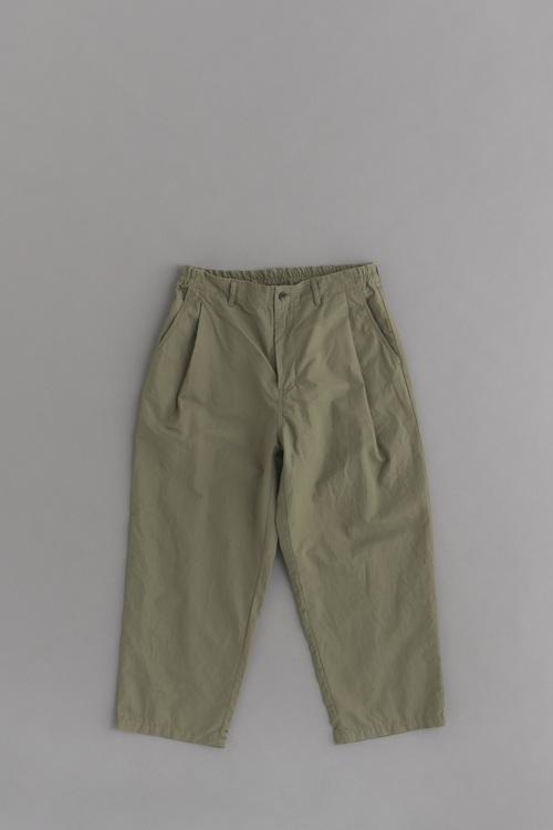 STILL BY HAND C/L 1-Tuck Cropped Pants (Khaki)_d0120442_12523897.jpg