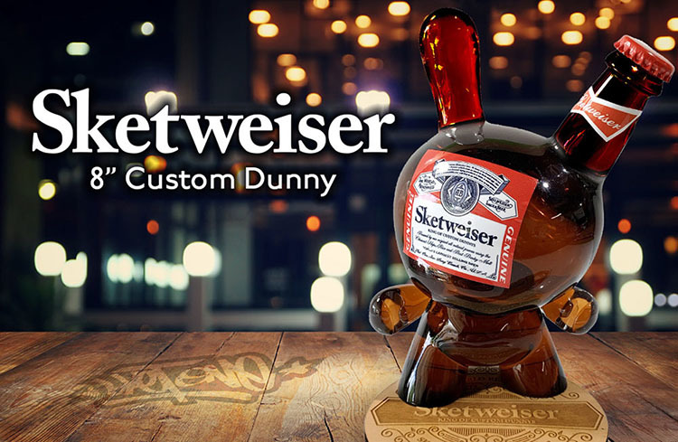 Sketweiser 8inch Custom Dunny by Sket-One_e0118156_08340526.jpg