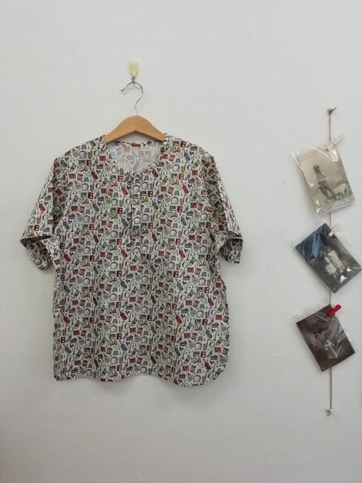 リバティプリント キッズシャツ 140㎝_f0109798_07441500.jpg