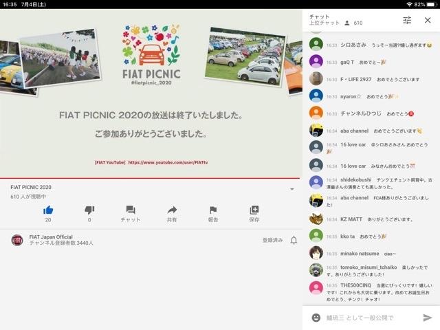 【7年連続参加?】FIAT PICNIC 2020_b0004410_11403912.jpg