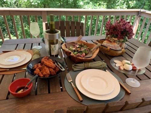 夫婦二人の、独立記念日のテーブル_d0240098_04095208.jpg