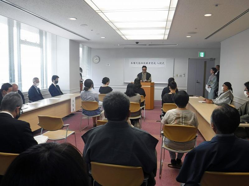 大島紬技術養成所入校式 出務御報告/下夷_c0315907_09230546.jpg