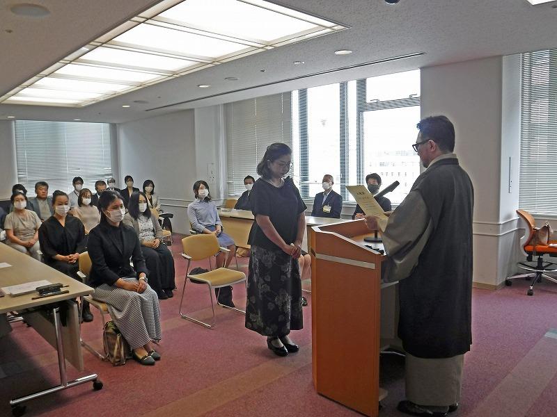 大島紬技術養成所入校式 出務御報告/下夷_c0315907_09250116.jpg