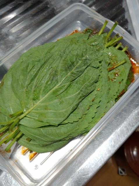 ごまの葉の醤油漬け_c0162773_19451396.jpg