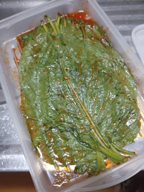 ごまの葉の醤油漬け_c0162773_19474110.jpg