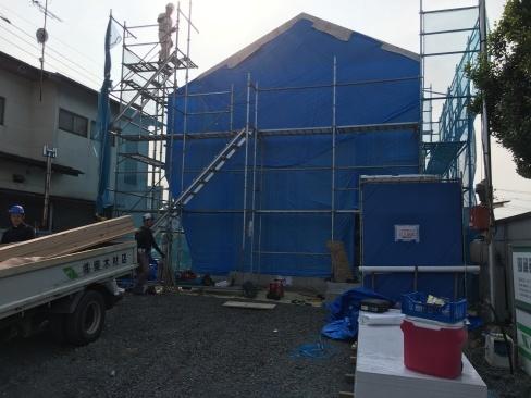 栃木県芳賀町にて上棟しました。_a0059217_14271510.jpg