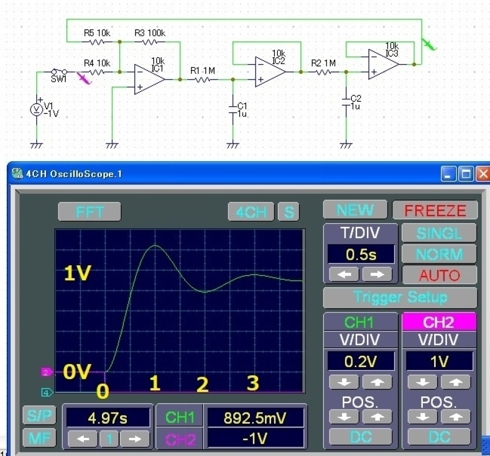 数値実験のおもしろさ(回路シミュレーターでやってみたよ)_c0335218_20100041.jpg