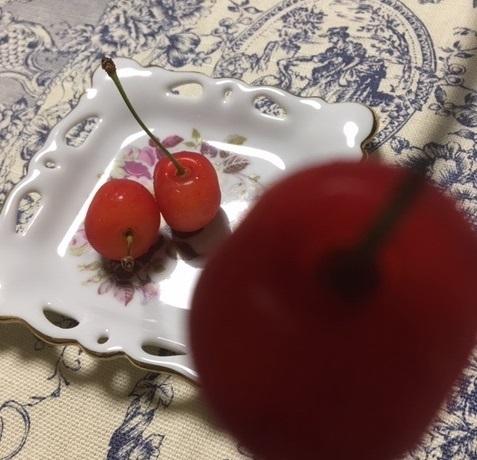 旬のフルーツ サクランボ_d0281783_15404074.jpg